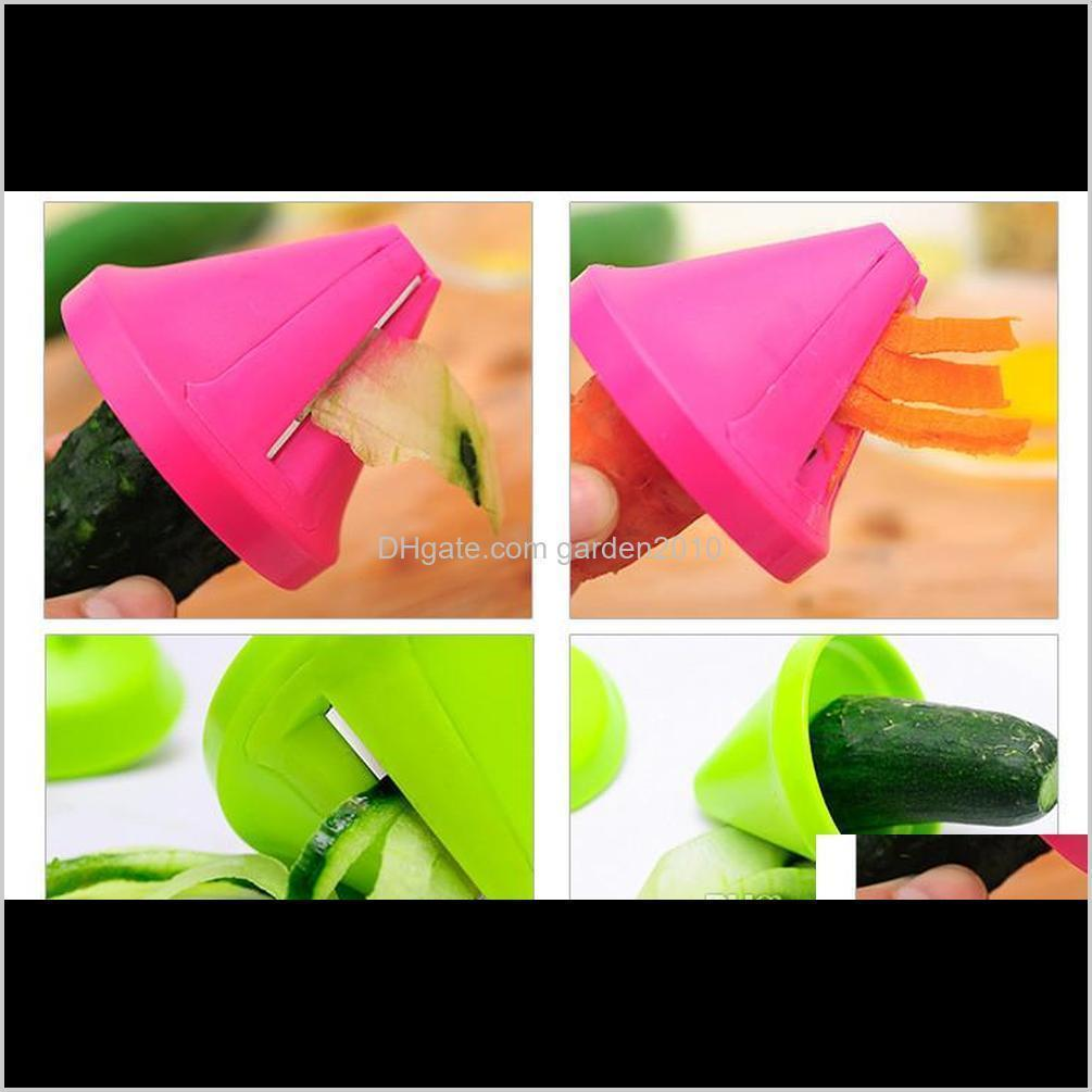 funnel shape vegetable fruit spiral slicer shred creative vegetable peeler fruit grater vegetable tools for home kitchen