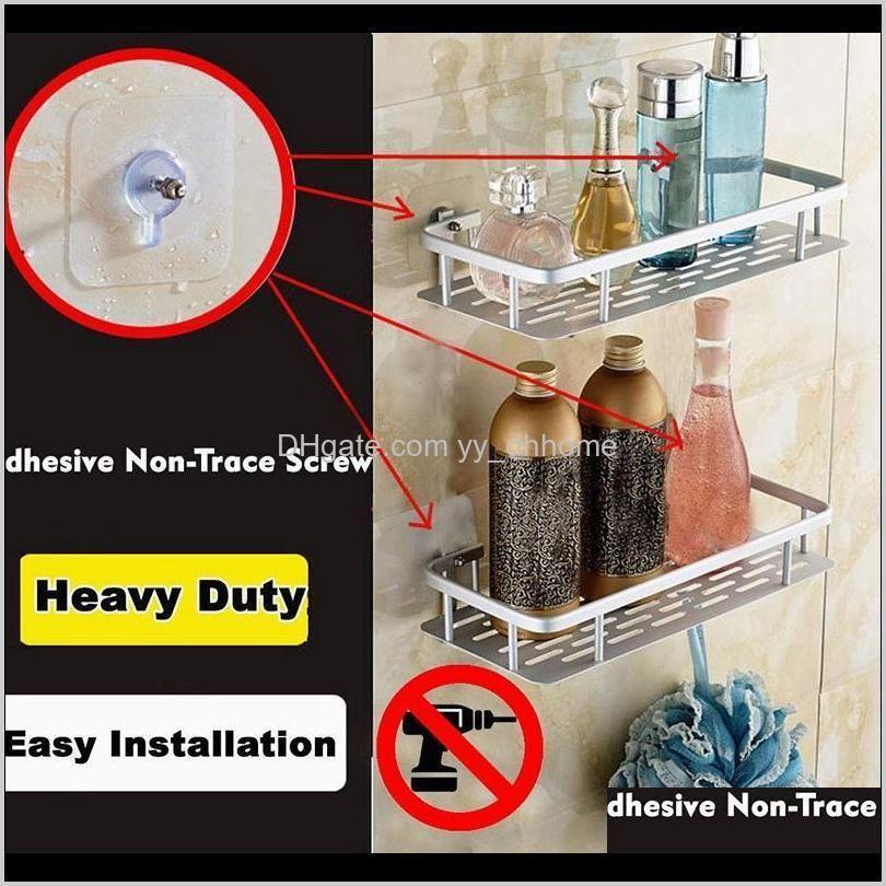 shelf shower shelf adhesive aluminum shower caddy for shampoo holder kitchen rack storage organizer no drilling rectangle wall m