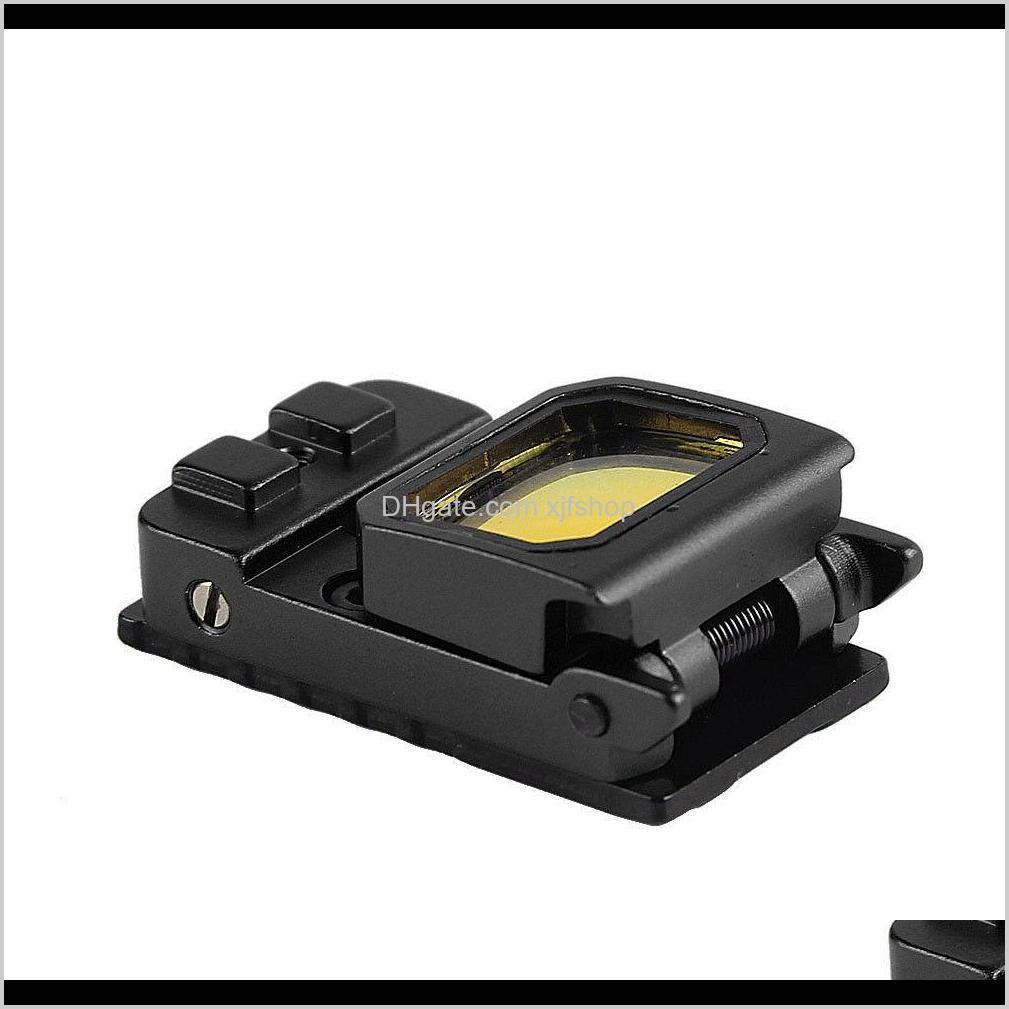 vism flip reflex red dot pistol sight rmr mini folding holographic sight for airsoft