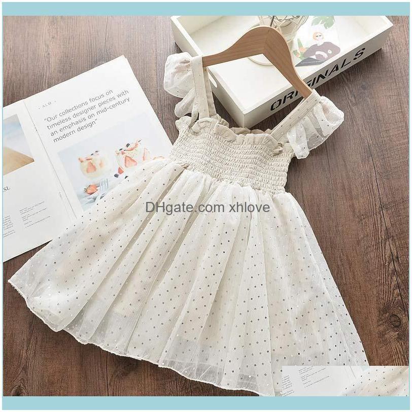 Melario Girls Princess Dresses 2021 Summer Kids Polka Dot Vest Clothes For Girl Cute Baby Mesh Sling Vestidos 2-6Y Girl`s