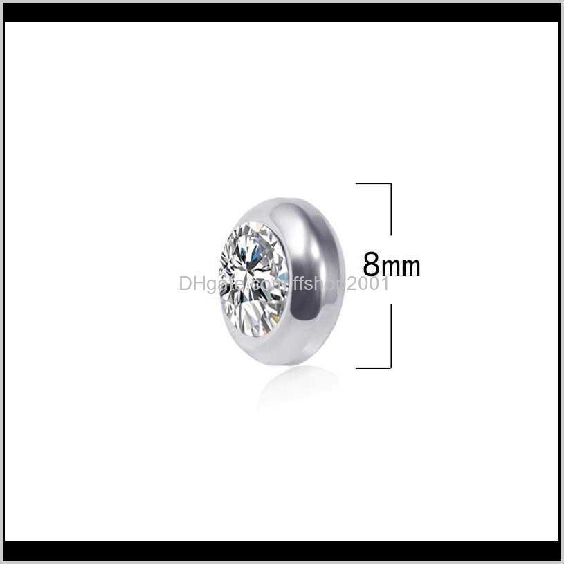magnetic clip on diamond earrrings no hole stainless steel earrings allergy women earrings men earrings stud earings fashion