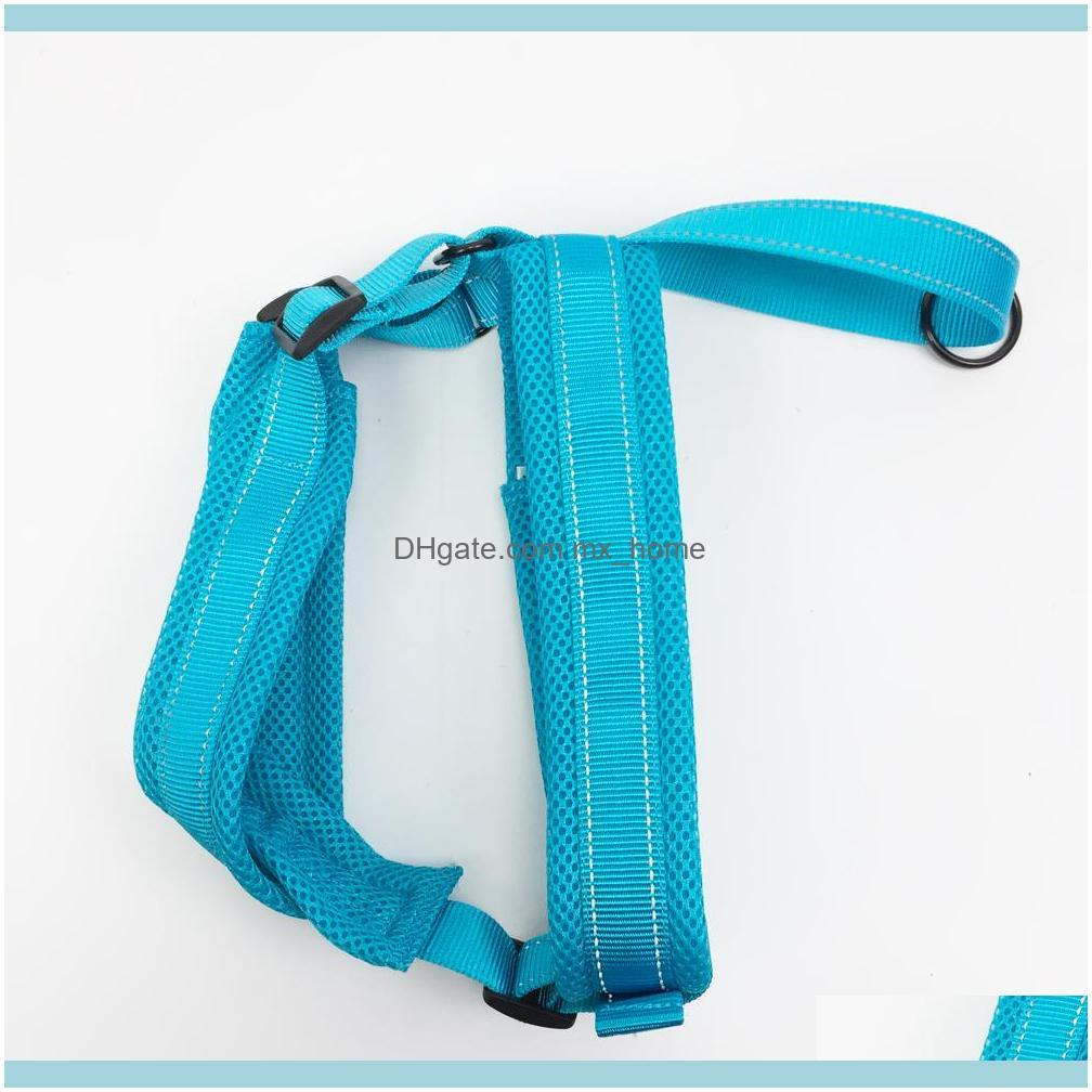 New Dog Harness No pull Pet Adjustable Reflective Vest harness Walking Safety Comfortable Mesh Harness for Medium large dogs 201126