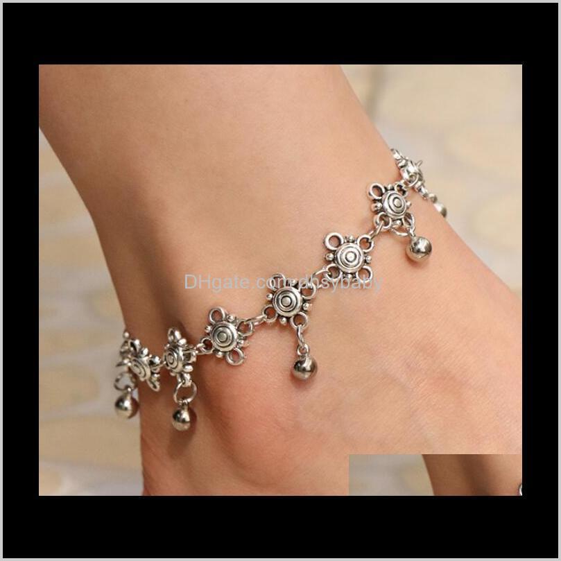 bohemian gypsy turkish tribal boho silver coin anklet ankle bracelet boho foot jewelry ps1798