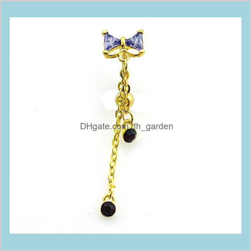 Body Belly Button Rings Gold Plated