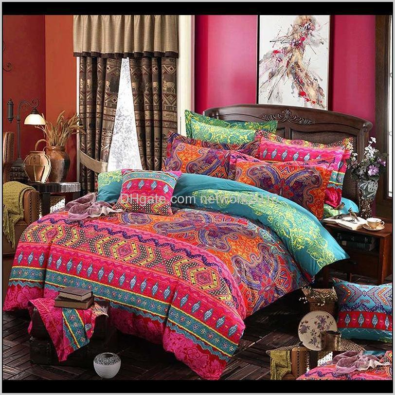 ethnic style bohemian 3d comforter bedding sets mandala duvet cover set winter bedsheet pillowcase queen king size bedlinen bedspread
