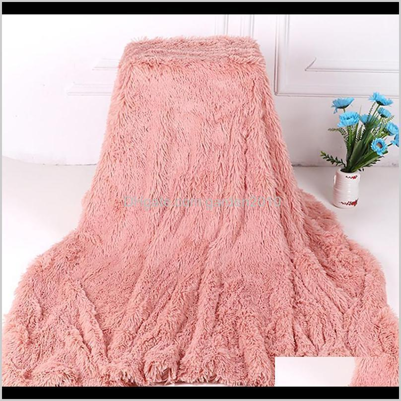 bed sofa plush blanket soft fur faux with fluffy throw blanket bedspread long shaggy warm bedding cover bedsheet blankets