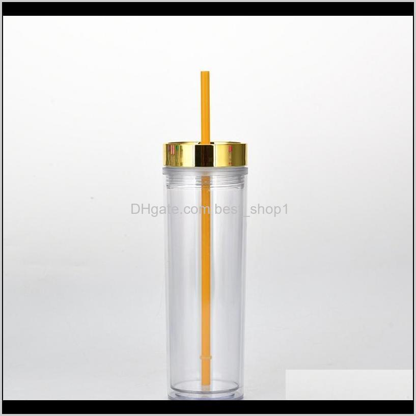 16oz skinny cup double wall plastic skinny tumbler portable easy to take with lid and straw sea shipping wwa227