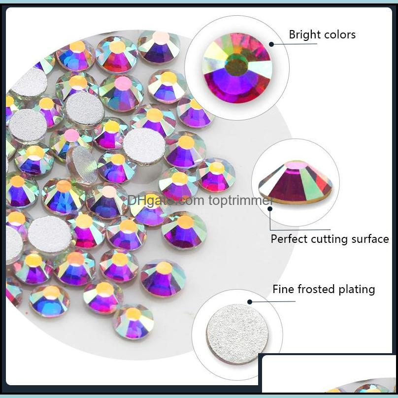 35 colors SS3-SS10 Mix Sizes Crystal Glass Nails Art Rhinestones For 3D Nail Art Rhinestones Crystals Strass Charms Nails Stones