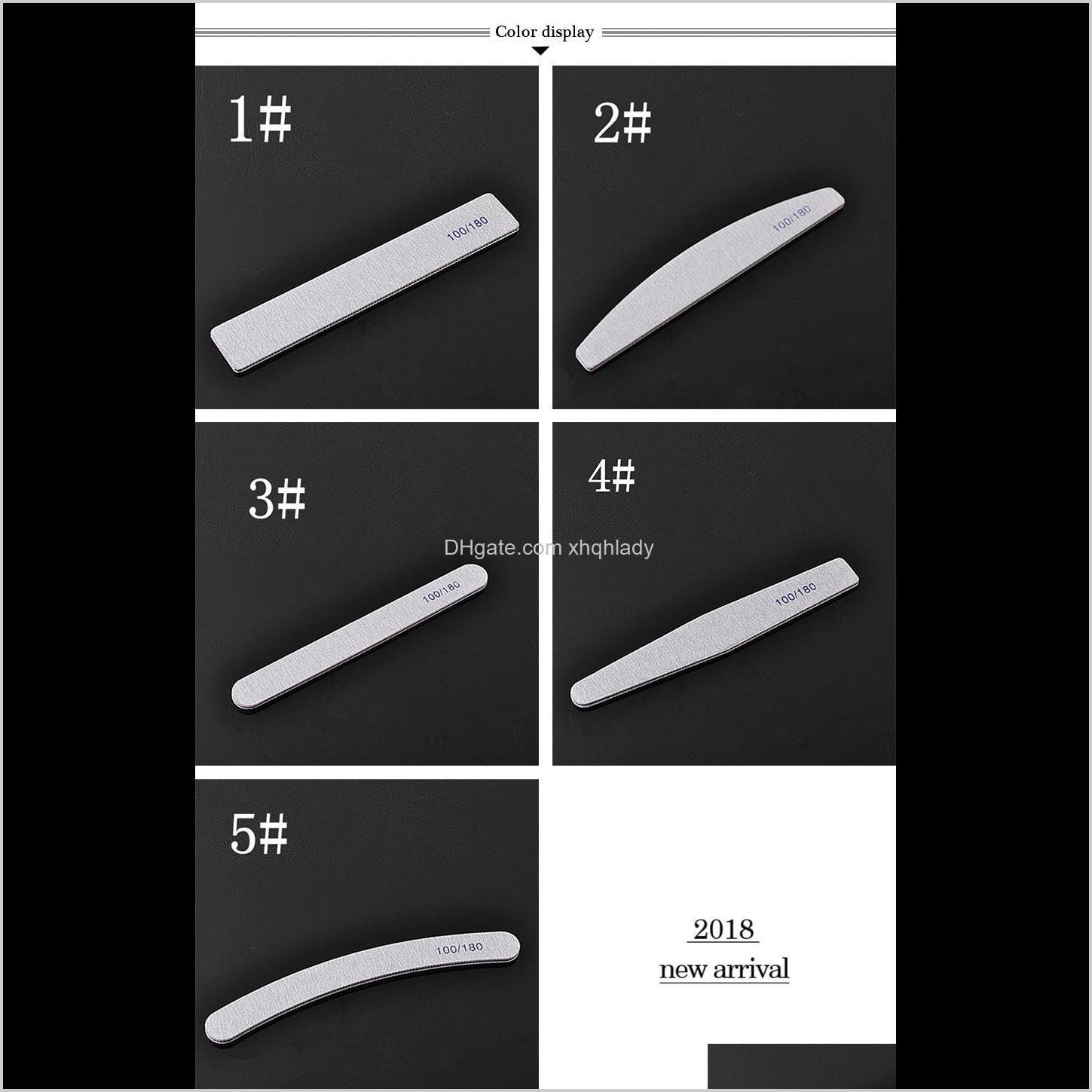5 styles professional nail styling tools sponge diamond rubbing polished surface sand nail file polished bar nail rubbing strip