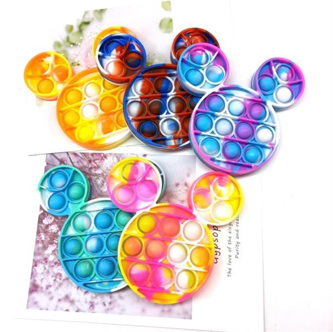 Butterfly Bubble Push Poppers Fidget Pads Sensory Toys Autism Special Needs Stress Reliever Increase Focus Toy Soft Squeeze for kids G11801