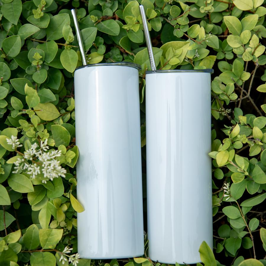 DHL Free 20oz DIY sublimation tumbler 20oz stainless steel slim tumbler straight tumblers vacuum insulated travel mug best gifts CM12