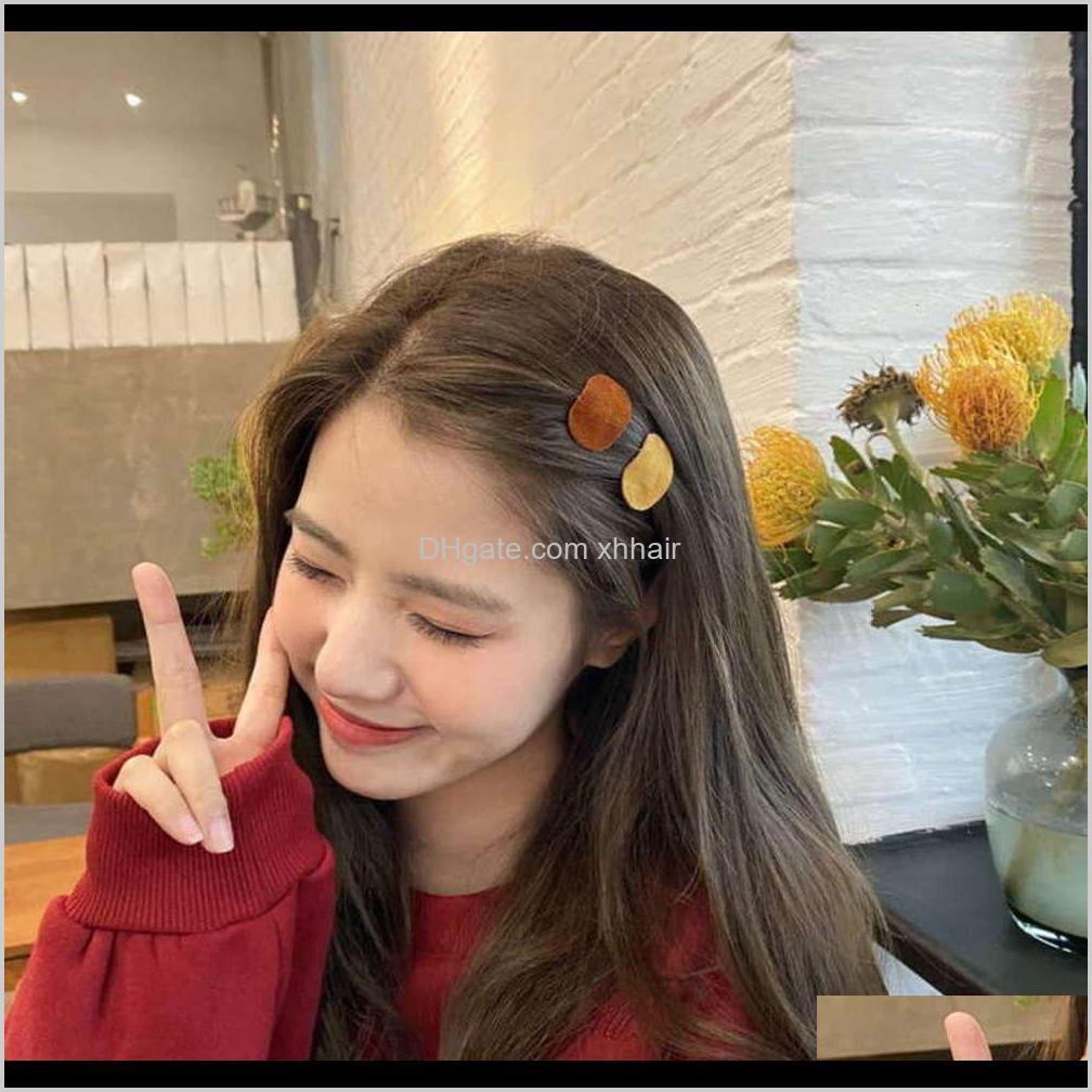 wanghong 2020 new girls hairpin bangs korean cute side top clip headdress