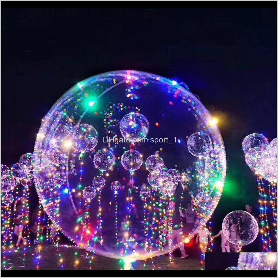 led balloons night light up toys clear balloon 3m string lights flasher transparent bobo balls balloon party decoration cca11729