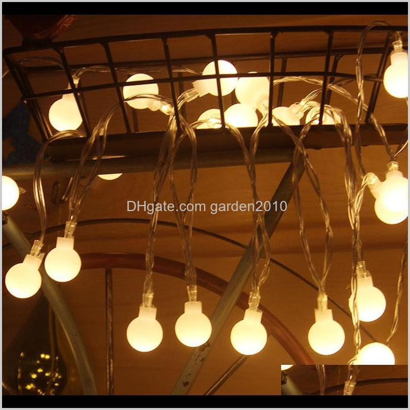 5m50led 10m100led spherical round fairy battery remote control string lights multicolor party wedding christmas garden outdoor