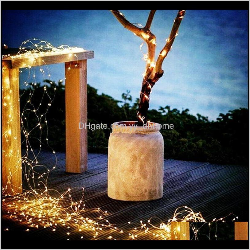 solar garden light led copper wire lamp fairy string for diy party halloween christmas wedding decoration