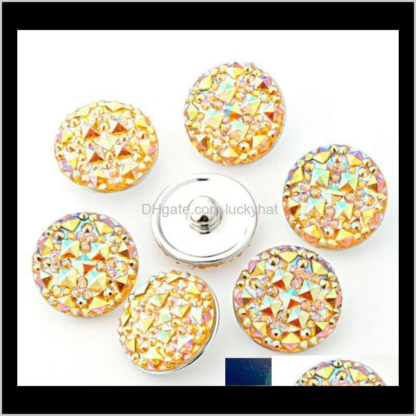 cheap wholesale 18mm ginger snaps 7 colors round resin snap on jewelry fit snaps buttons charm bracelet interchangeable diy jewelry
