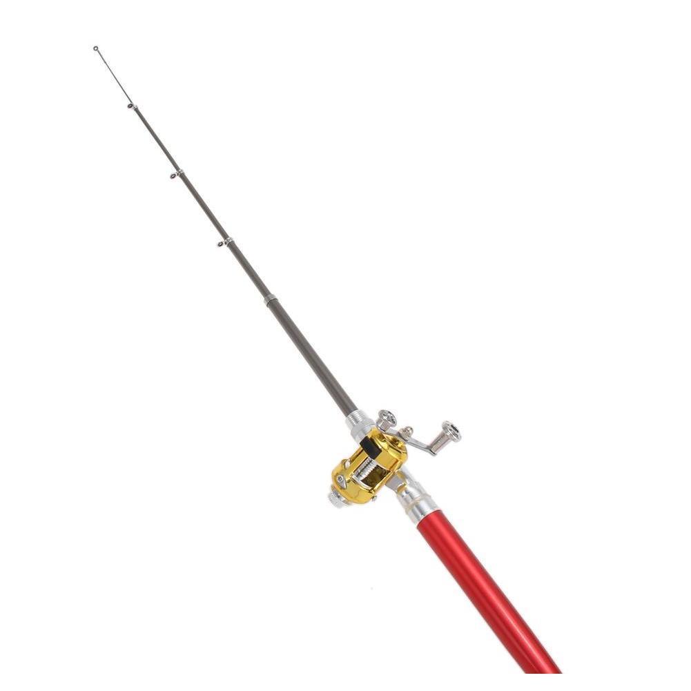 aluminum alloy pen fishing rod mini pocket fish pole reel combos lightweight telescopic fishing rods with reel