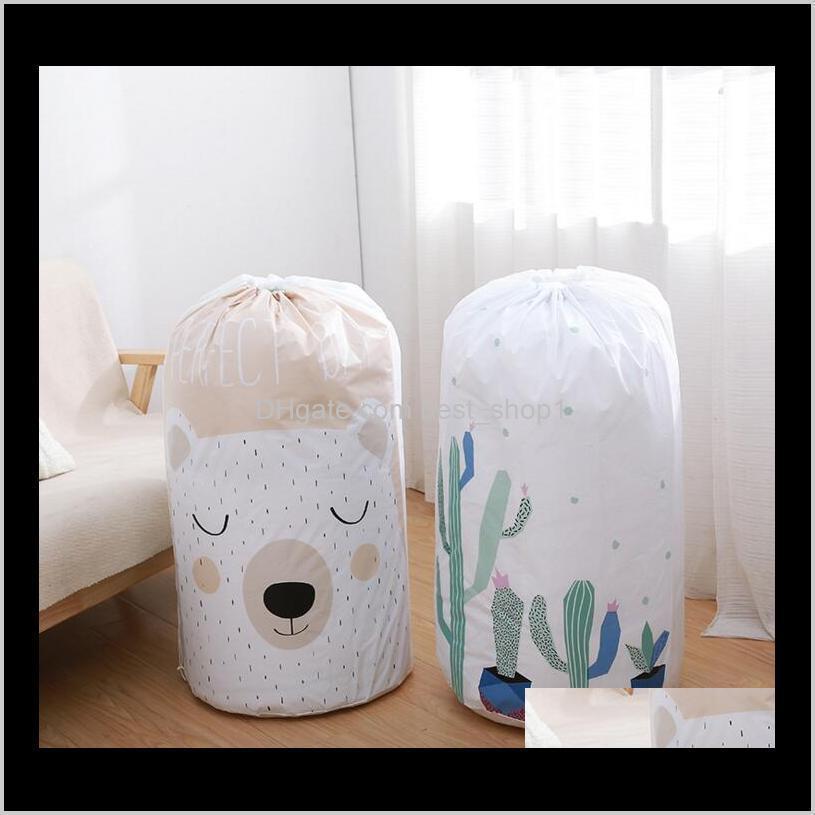 clothing storage bag cartoon waterproof quilt bag moisture-proof clothes sorting bundle closet organizer pouch organization bags