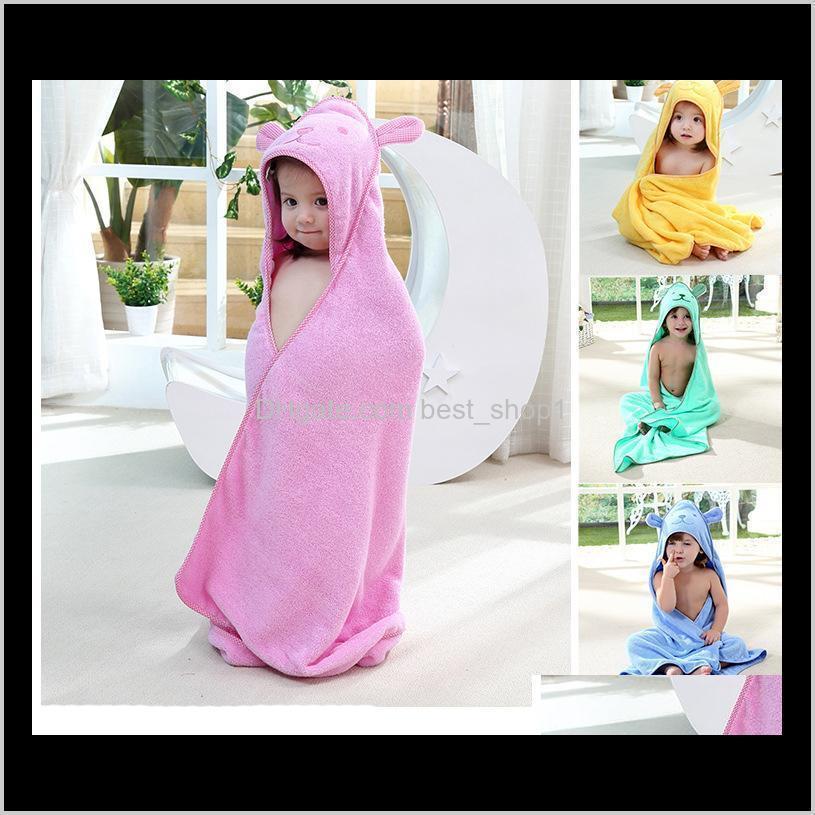kids towel 2017 toddler 100% cotton bathrobe baby boys girls spring animal hooded bath towel children cartoon towel