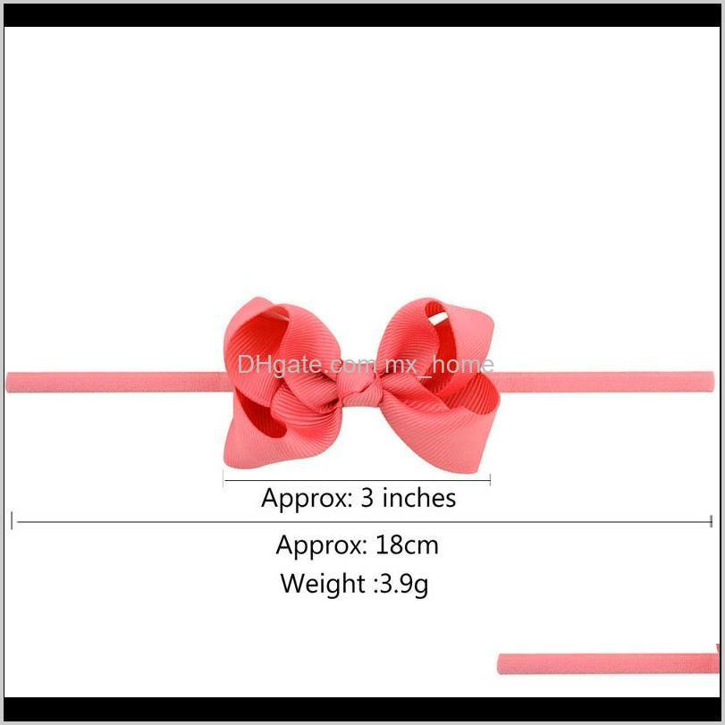 girls mini bow tie knot headbands 3 inches wrap safety elastic hairband baby infant toddler photography props accessories boutique 04