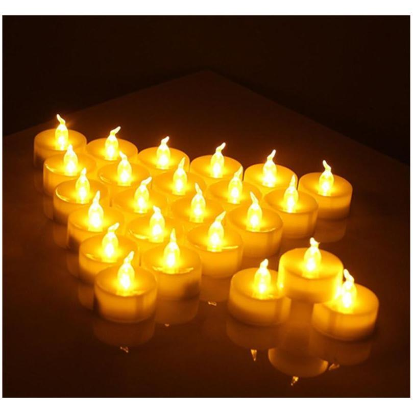 led tea lights flameless votive tealights candle flickering bulb light small electric fake tea candle realistic for wedding table gift