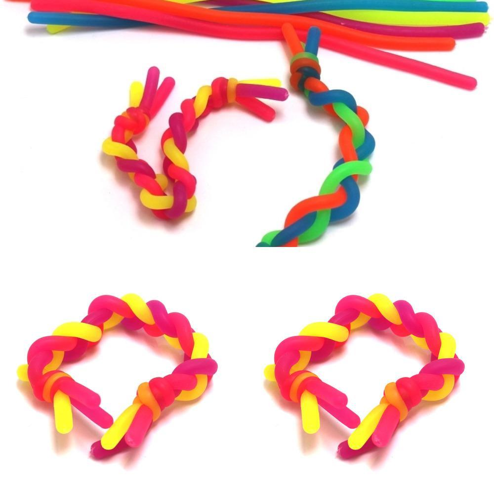 DHL Fast Stress Relief Toys Fidget Decompression Toys Rope Noodle Ropes Toy Sensory Kids Abract Flexible Ropes Slings Atacado