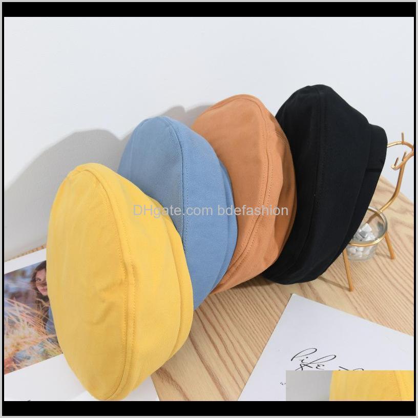 autumn and winter caps women beret fashion hip hop hats pure color sunbonnet fedoras outdoor fisherman hat sun cap bonnet femme1