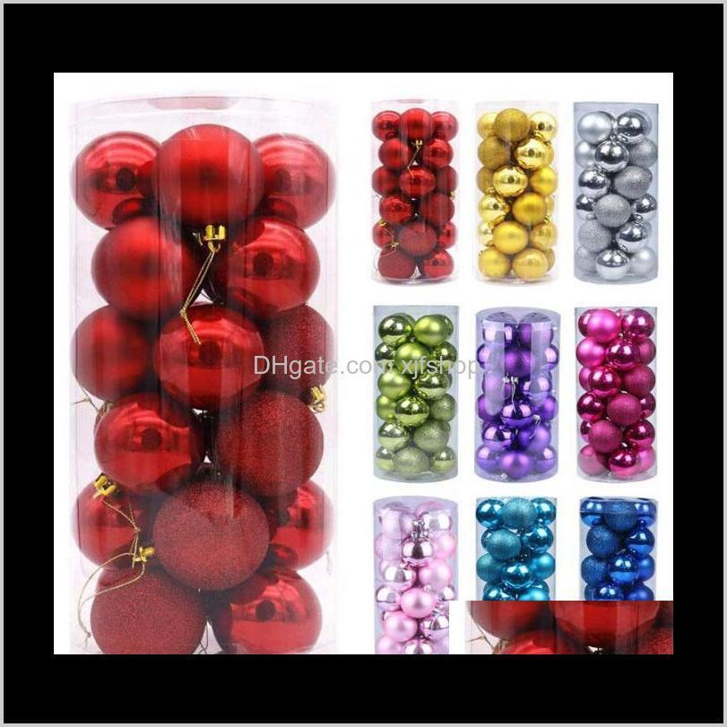 christmas tree decor ball xmas party hanging ball ornament decorations for home christmas decorations gift 24pcs 3cm/1.2