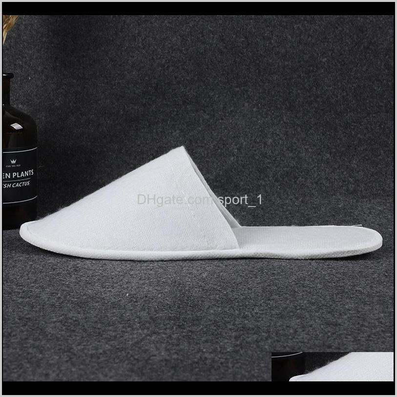 dvgc hotel pairs of disposable white hotel disposable spa 25 slippers for guestsclosed toe slippers for and men women