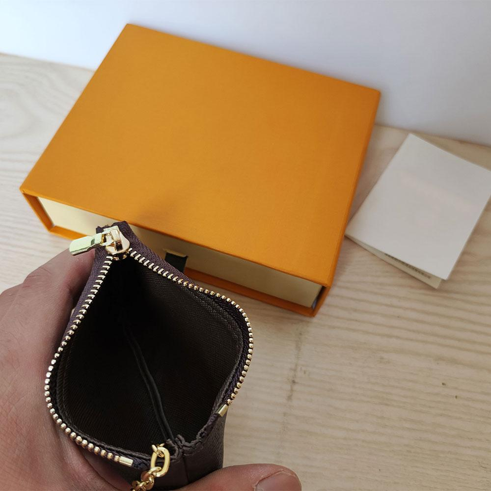 High Quality KEY POUCH Classic men women Zip Wallets Coin Fashion Designer mens Holders Letter PU Leather Womens purse M62650 Luxury unisex Wallet with box
