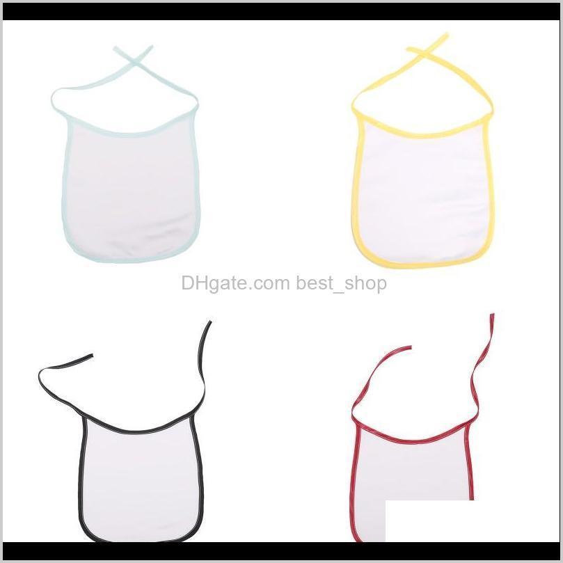 heat transfer sublimation blank bib multi colors diy polyester baby eat drink anti dirt feeding tool babies sleep saliva bibs hot 3 5ex