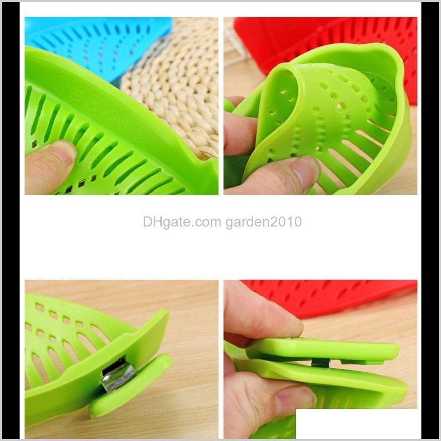 creative silicone clip on pot strainer silicone colander water filter fit different size pots strainers 4 colors
