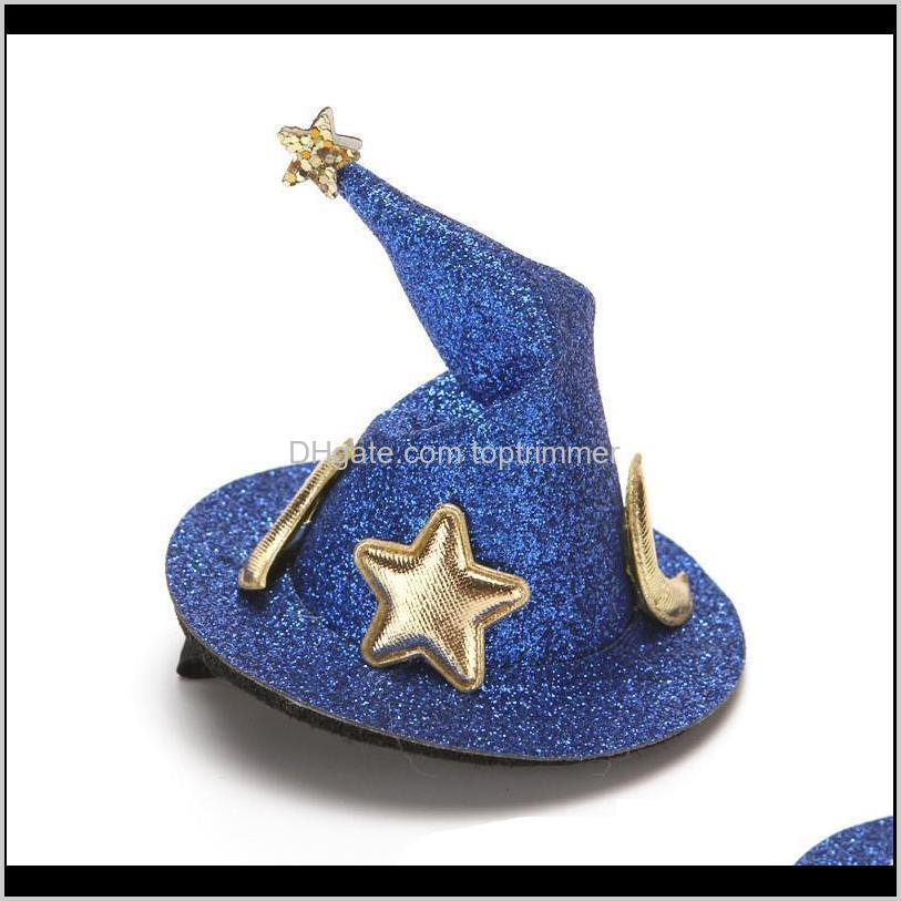 children`s hairpin magic hat baby hairpins halloween wizard hat hair accessories headdress hair clip halloween accessories