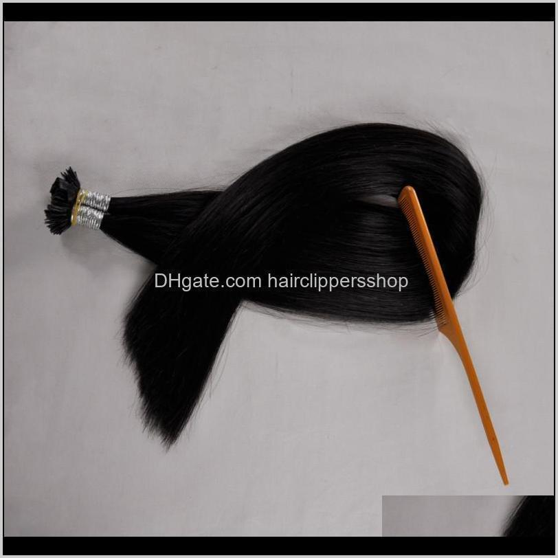 300strands flat tip keratin hair, fusion hair extensions double drawn remy hair extension 1.0g s 300g pre bonded 16`` 18
