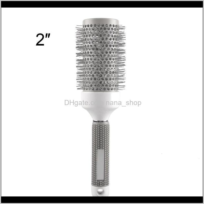 wholesale- 5pcs/lot mix size round rolling hair brush set barrel curling brush comb hair styling tools barber professional salon