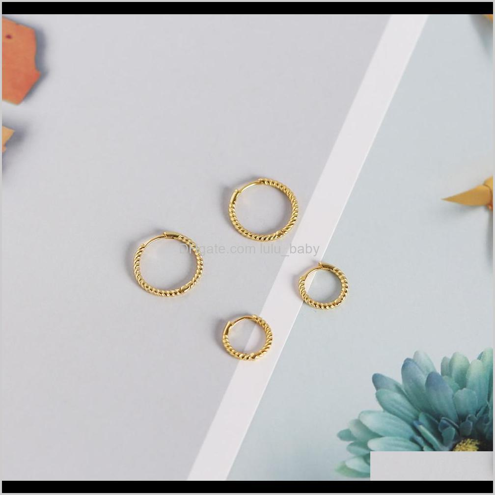 newest 925 sterling silver earrings ear cuff clip on round circle gold hoop women earring accessories
