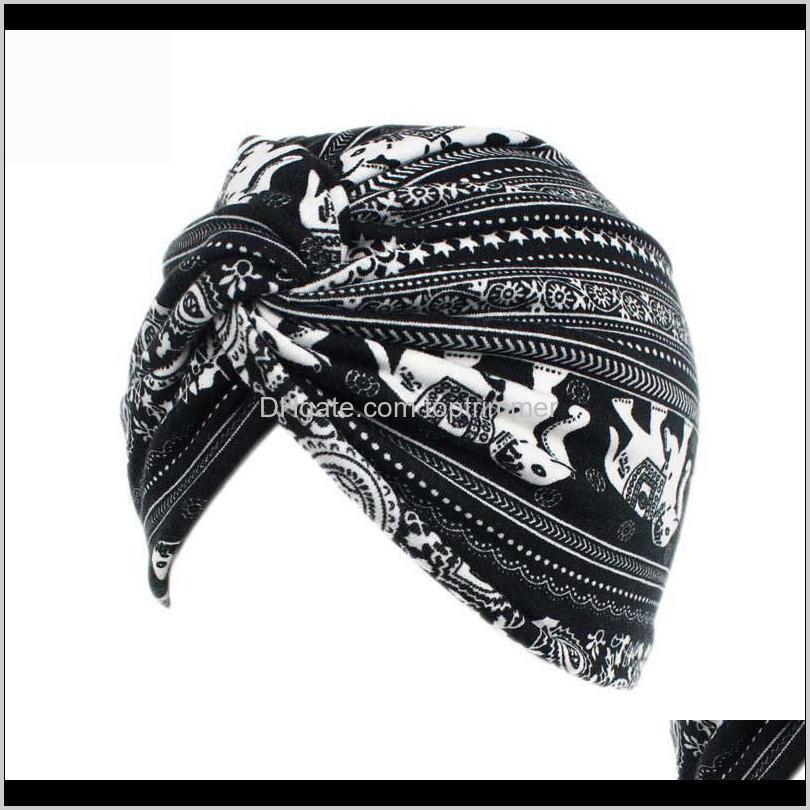 bohemian style twist turban women fashion headwrap chemo cap