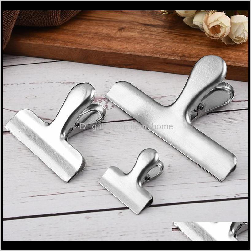 stainless steel 430 snack sealing tool bill stationery clip food clip86ky