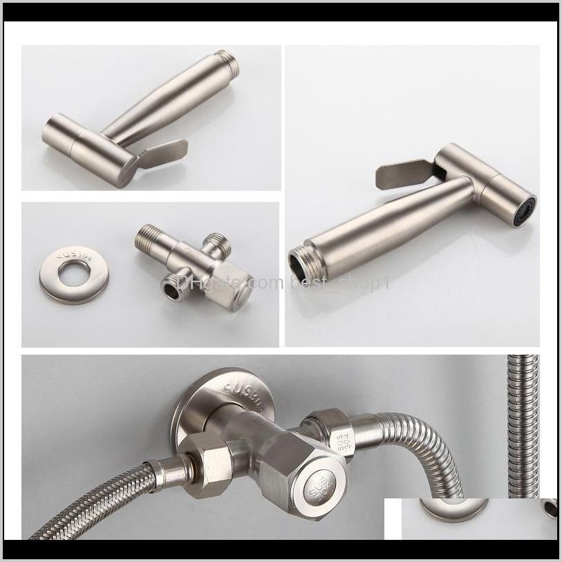 stainless steel toilet hand held bidet faucet sprayer bidet set sprayer toilet spray for bathroom shower head 200925