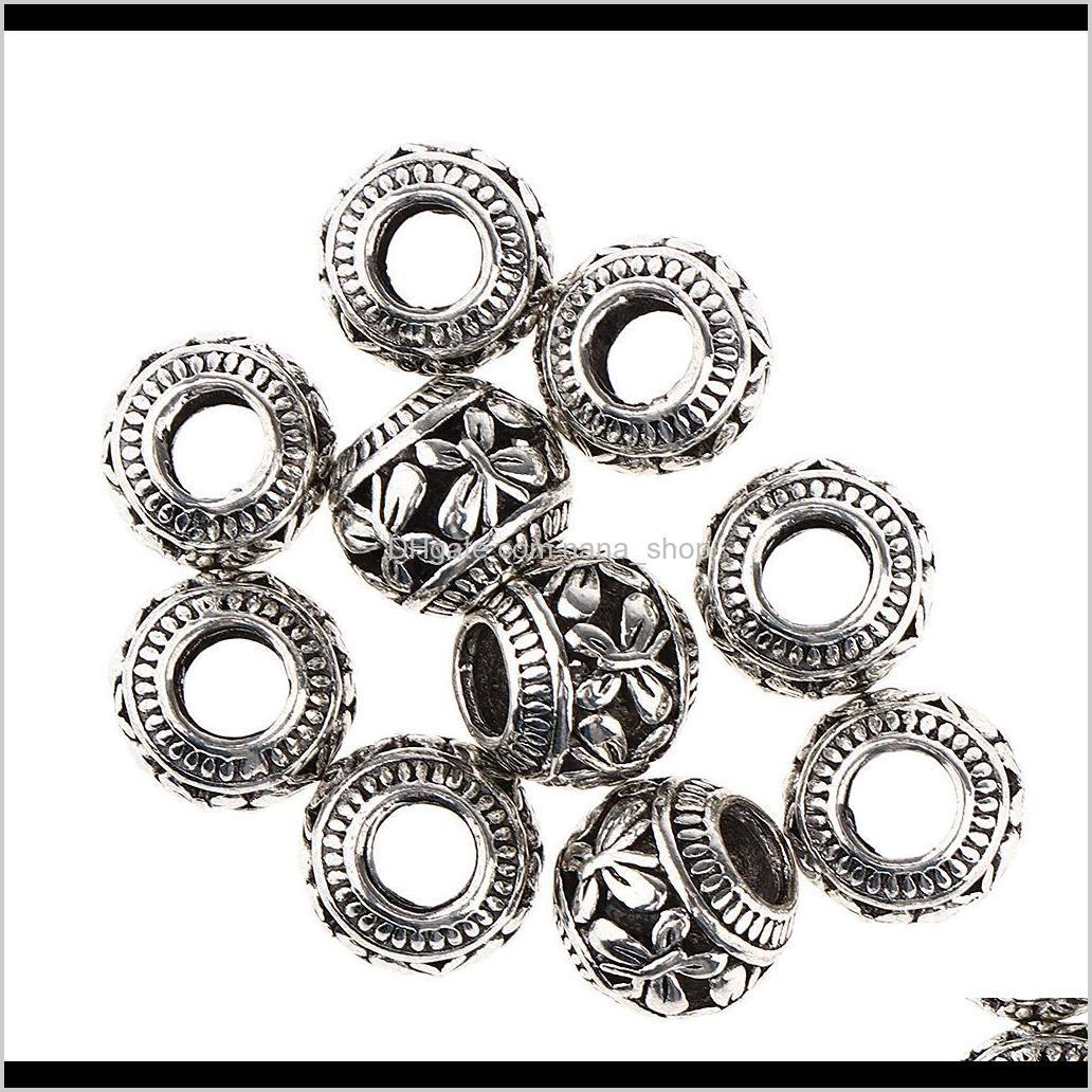 20-pieces 4.5mm durable hair braid rings clips, hair decorations beads, silver golden jewelry making beads
