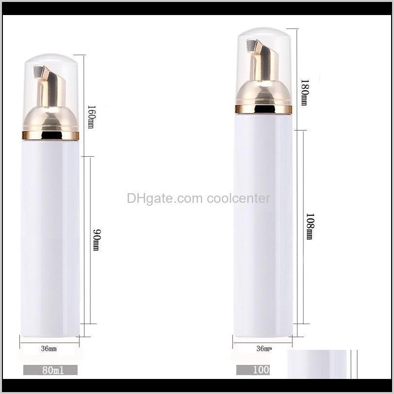 50ml empty plastic foam bottles travel foamer bottles with rose gold pump hand wash soap mousse cream dispenser bubbling bottle bpa