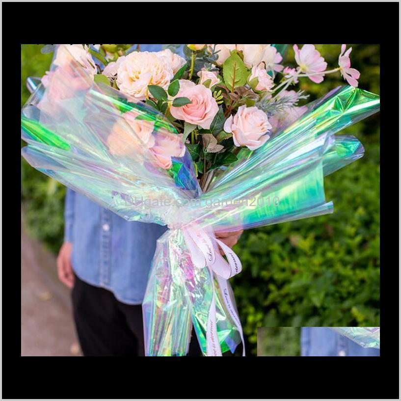 50x1000cm iridescence membrane laser cellophane bouquet wrapping paper packaging paper packing & shipping business & industrial ha733