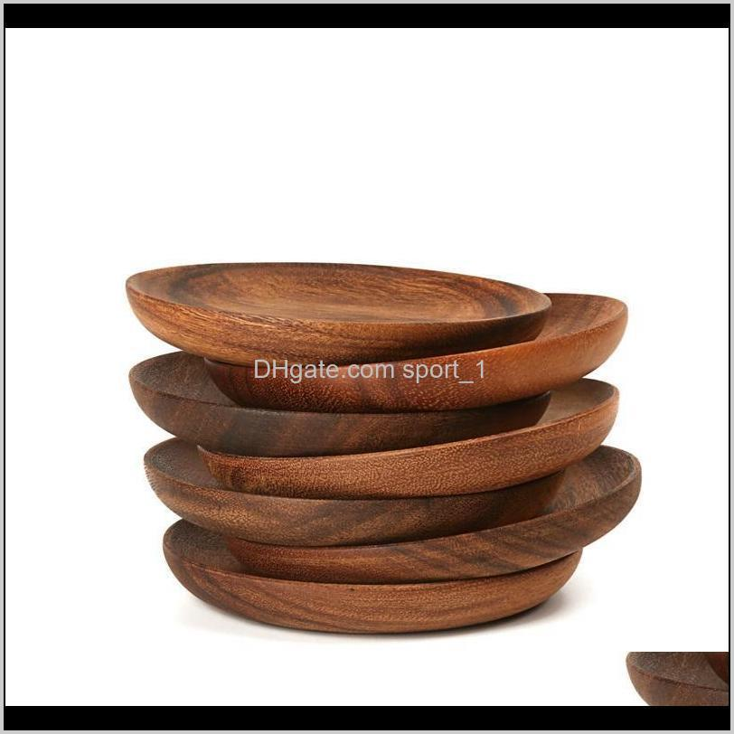 plate wooden circular fruit dishes no paint dry fruits cake snack plate home restaurant small dish eea493