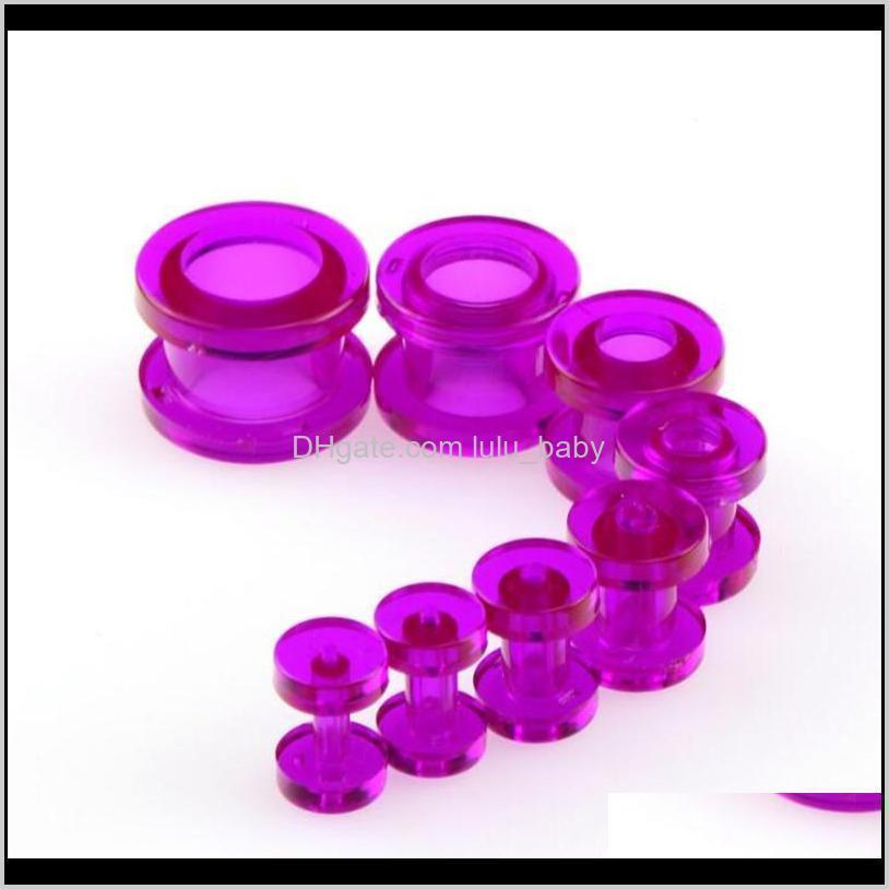 new wholesale 1 set 8pcs ear gauges soft silicone ear plugs ear tunnels body jewelry stretchers multi colors size from 2-12mm