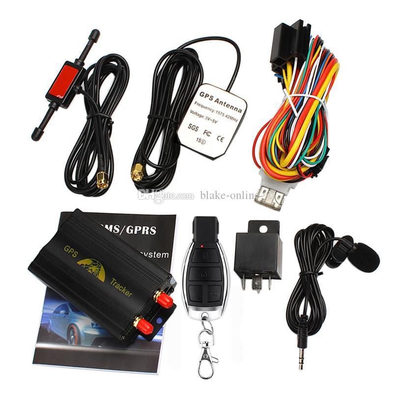 Auto GPS Tracker GPS103B TK103B Voertuig Quad Band Realtime Positionering GSM / GPRS TRKKING-apparaat met afstandsbediening Online alarmsysteem Geofence Voice Monitoring