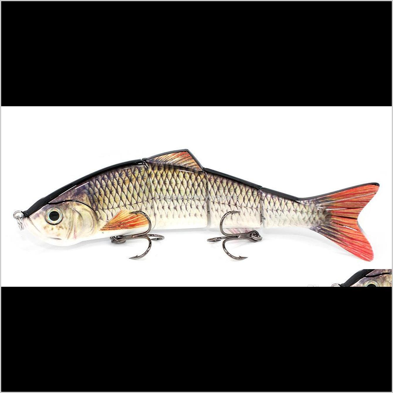 manufacturer supply abs saltwater jig fishing tackle lure, in stock multi jointed swim bait with 12cm/15.2cm/25.5cm