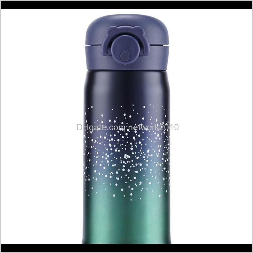 portable bounce lid student thermal bottle school student gift tea mug thermal bottle stainless steel starry sky vacuum thermal mug