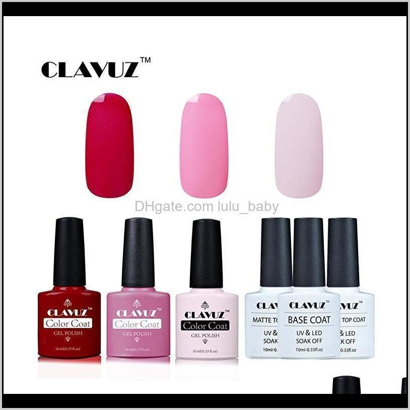 6pcs color gel polish series soak off uv led nail varnish primer salon pedicure manicure arts 10ml