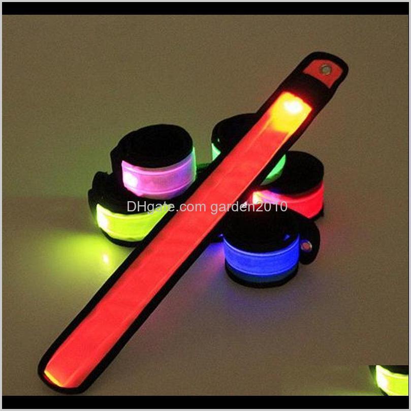 led sports slap wrist strap bands wristband light flash bracelet glowing armband flare strap for party concert armband
