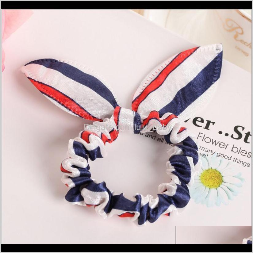 10pcs rabbit ears hair band children kids hair accessories scrunchies elastic hairband for women girl rubber band polka dot hair rope